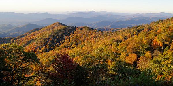 The Black Mountains near Mount Mitchell (photo courtesy romanticashville.com)