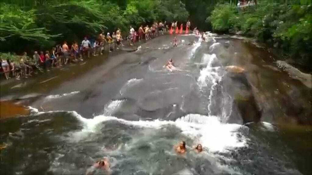 Summer is perfect for the natural water slide at Sliding Rock