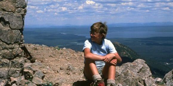 chuck sitting at summit