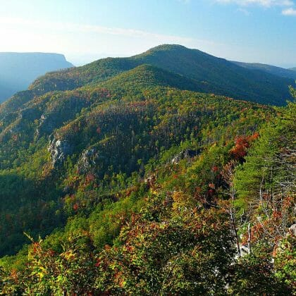 linville gorge arial shot